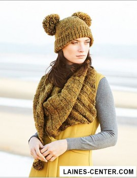 Modèle de Bonnet Fashion Alpaca Tweed Chunky