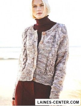 Modèle de Veste Fashion Alpaca Tweed Chunky