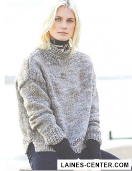 Modèle de Pull Fashion Alpaca Tweed Chunky