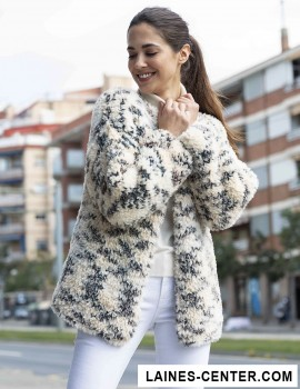 Modèle de Veste Polar Animal Print