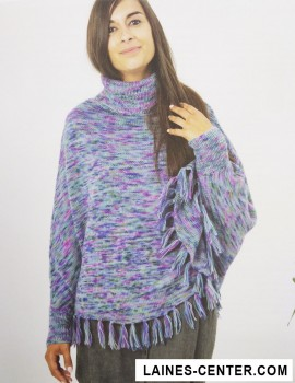 Modèle de Poncho Luxury Hand-Dyed Happiness